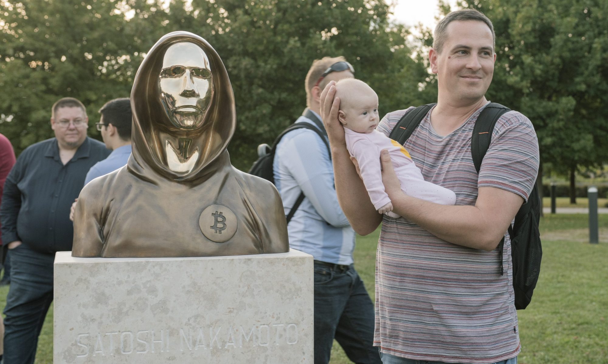 Statue of Satoshi - Budapest, Hungary